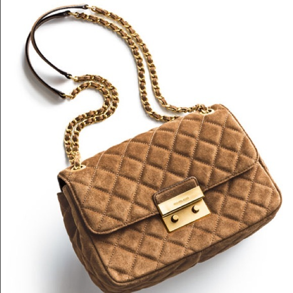 Michael Kors Sloan Large Quilted Suede Bag